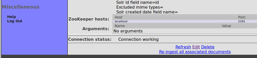 Solr Output Connection