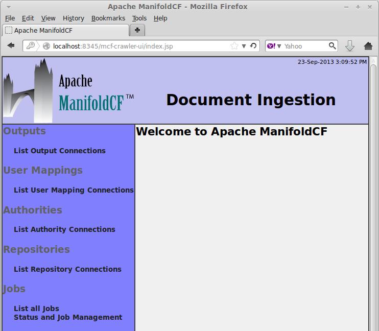 ManifoldCF WebUI